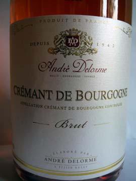 Crémant de Bourgogne Rosé Brut, André Delorme