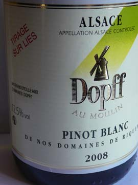 Pinot Blanc de Riquewihr, Dopf au Moulin, 2008
