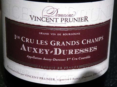 Auxey Duresses 1er Cru Les Grands Champs Vincent Prunier 2006