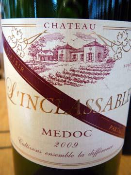Château L'Inclassable 2009