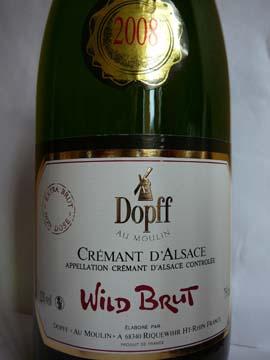 Dopff au Moulin Wild Brut 2008