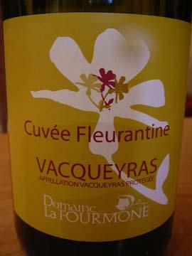Fourmoune Vacqueyras Feuillantine 2011