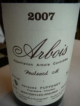 """Arbois Poulsard """"M"""" Jacques Puffeney 2007"""