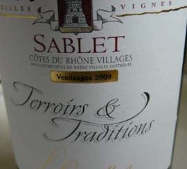Sablet Gravillas Terroir et Tradition 2009