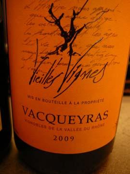 Vignerons Vacqueyras Vieilles Vignes 2009