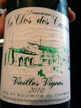Domaine Clos des Cazaux Vieilles Vignes 2010