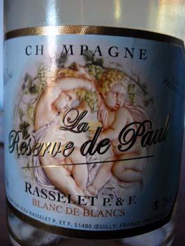 Champagne Rasselet Brut Premier Cru La Réserve de Paul