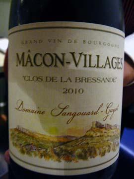 Mâcon-Villages Clos de la Bressande 2010, Sangouard-Guyot