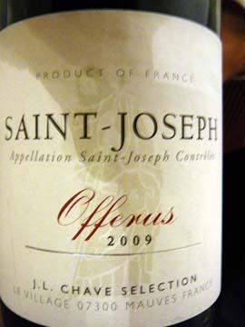 Saint-Joseph Offerus 2009, Jean-Louis Chave
