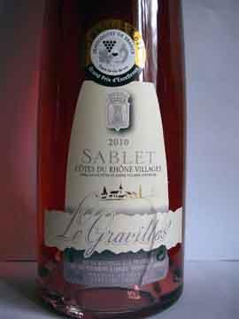 Gravillas Sablet Rosé 2010