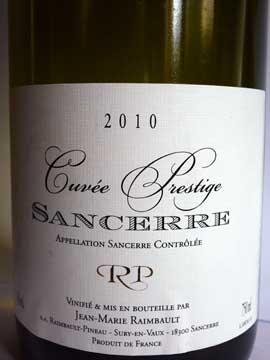 Sancerre Jean-Marie Raimbault Cuvée Prestige 2010
