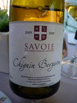Chignin-Bergeron Fleur de Roussane Perrier 2009