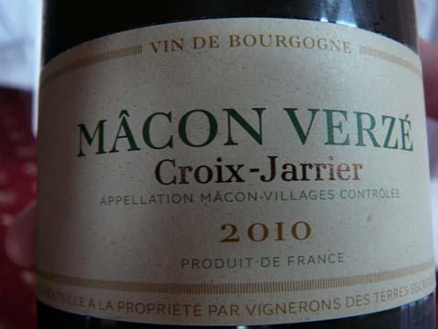 Mâcon Verzé Croix-Jarrier 2010