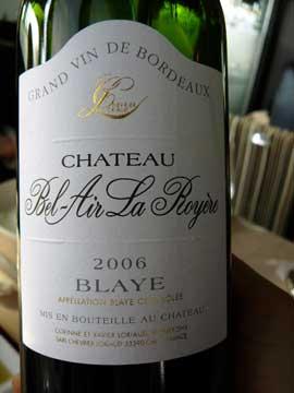 Château Bel-Air La Royère 2006