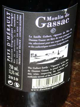 Moulin de Gassac Classic 2010, Daumas-Gassac