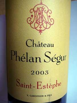 Château Phélan Ségur 2003
