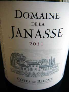 Domaine de la Janasse Côtes du Rhône 2011