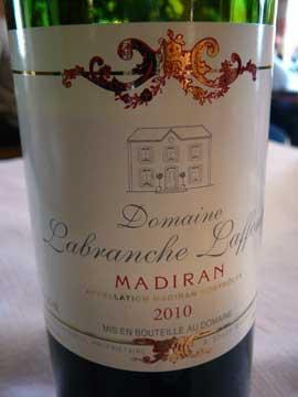 Madiran Domaine Labranche-Laffont 2010