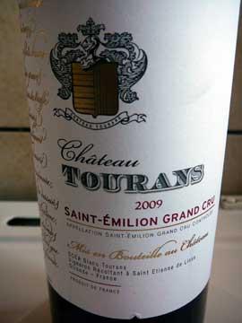 Château Tourans 2009