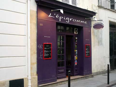 L'Epigramme, Paris