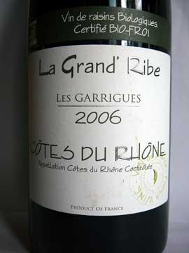 La Grand'Ribe Les Garrigues 2006
