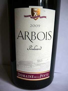 Domaine de la Pinte Poulsard Arbois 2009