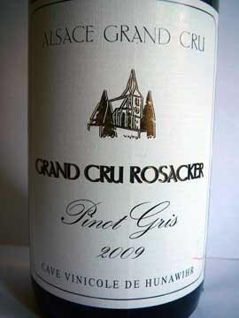 Cave de Hunawihr Pinot Gris Grand Cru Rosacker 2009