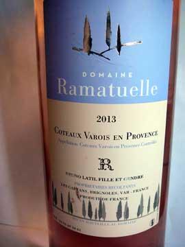 Domaine Ramatuelle Rosé 2013