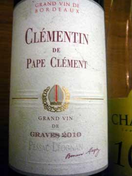 Clémentin du Château Pape Clément 2010