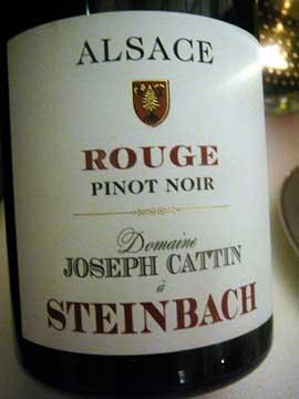 Rouge Pinot Noir Steinbach Joseph Cattin 2010