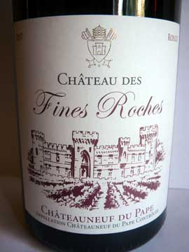 Châteauneuf-du-Pape Château des Fines Roches 2007