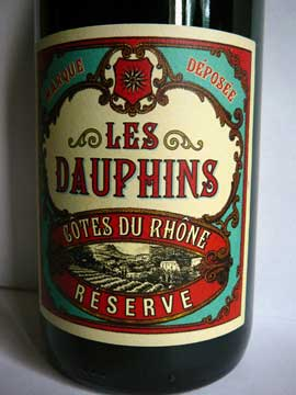 Côtes du Rhône Réserve Les Dauphins 2012