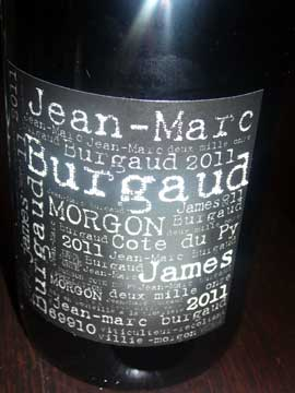 Jean-Marc Burgaud Morgon Côte du Py James 2011