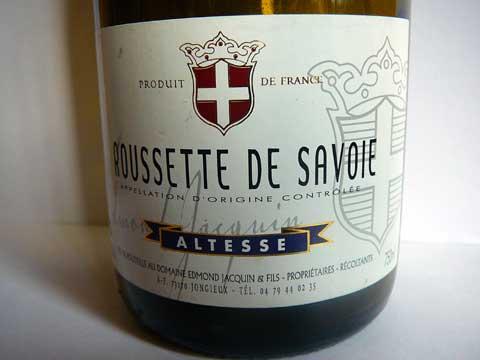 Roussette de Savoie 2014 Edmond Jacquin