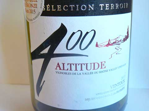 Altitude 400 2013 Vignerons Mont Ventoux