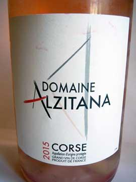Domaine Alzitana rosé 2015