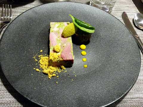 Persillé de Dijon, salade de lentilles et crumble moutarde