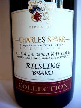 Riesling Brand Charles Sparr 2012