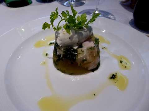 Aspic de volaille de Bresse, foie gras