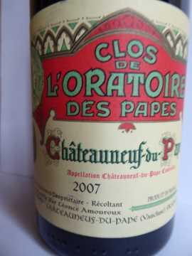 Clos de l'Oratoire des Papes 2007, Châteauneuf-du-Pape