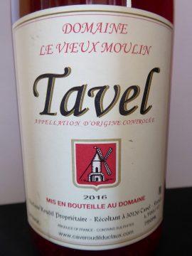 Tavel Rosé Domaine le Vieux Moulin 2016